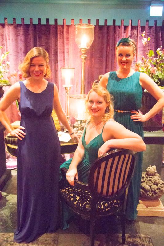Zetterberg Couture var kvällens sponsor med sina vackra skapelser till klänningar!